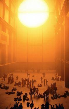 olafur eliasson. Light art installation.