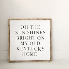 Another kentucky quote kentucky pinterest kentucky quotes but joy comes in the morning wood sign solutioingenieria Gallery