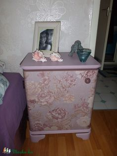 Vintage Decor, Toy Chest, Storage Chest, Decoupage, Cabinet, Toys, Furniture, Home Decor, Clothes Stand