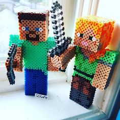 3D Minecraft perler beads by qdcrafts