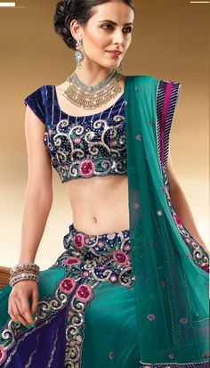Choli saree is a traditional dress of indian women.now designer makes a choli saree in latest design and colors.Gravity fashion offering a latest choli saree in a reasonablr price.USD$144.74  WWW.Gravity-fashion.com