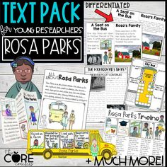 A variety of fun and engaging printable resources that your young researchers will actually be able to read! Each text type has differentiated levels to support every reader in your class.Don't waste anymore time trying to track down texts for your civil rights or diversity unit.
