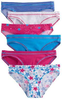 990523df3ae2 Hanes Girls 8-12 5-pack + 1 Bonus Bikini Panties. UnderwearLingerie