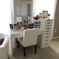 Cute simple white vanity