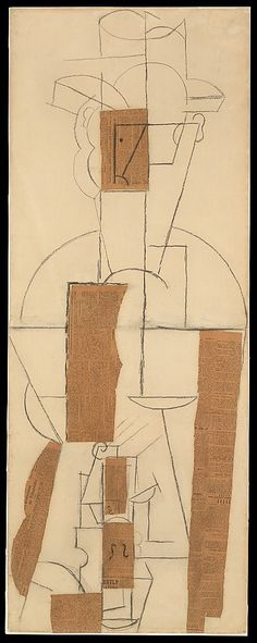Man with a Hat and a Violin ~ Pablo Picasso