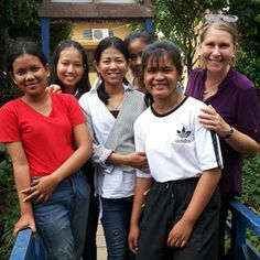 CAMBODIA: This group of 10th grade scholarship students pictured with Project Manager Ann, just completing their intensive English course, .Now they have decided  that they want to help Family Care Cambodia with  volunteer programs,  particularly working with children.  Thanks girls! Student Picture, English Course, Volunteer Programs, Working With Children, Project Management, Cambodia, Ann, Students, Action