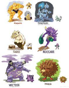 Pokemon Fusion Team by dkirbyj.deviantart.com on @deviantART
