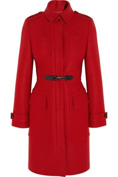 A fabulous red coat for a public walk to church and Christmas dinner with the royal in-laws.