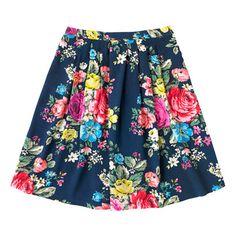 Hampstead Rose Pleated Crepe Skirt | Cath Kidston |