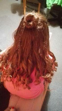 Bun and curly hair