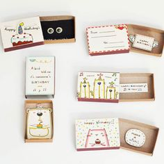 More birthday cards! Which one do you like best? #birthdaycard #greetingcards #matchboxcard #matchboxart #kawaii #cute #etsy #etsywholesale #cat #bear #birthdaytreat #birthdaydecor #birthdaywishes #tiny #thatsdarling #ohwowyes #craftsposure #vsocam #picoftheday #craft by shop3xu