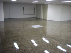 Polished Concrete - Garage Heavy Polished Concrete Flooring, Garage Flooring, Garage Ideas, Tile Floor, House Ideas, Home, Ad Home, Tile Flooring, Homes