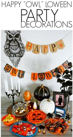 "Halloween party decor for a Happy ""Owl"" loween theme! - C.R.A.F.T."