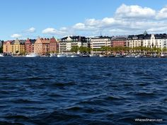 views from the canal tour in Stockholm
