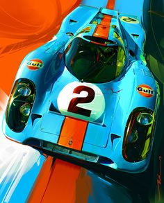 Porsche 917 art by John Krsteski