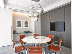 Modern midcentury office design