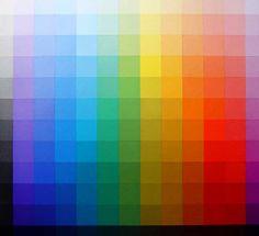 Johannes Itten: Colour Table  Claro-oscuro en doce pasos de gris desde el blanco al negro, y los doces colores del círculo cromático