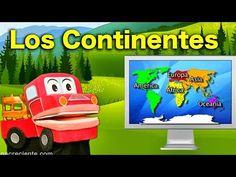 Los Niños Aprenden sobre Los Continentes - Videos Educativos para Niños con Barney El Camión - YouTube
