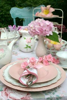 Pretty setting for high tea party