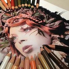 Hyperrealism Drawings With Pencil By Karla Mialynne. Karla Mialynne impressing paintings are mostly created with watercolor pencils, colored markers and Design Graphique, Art Graphique, Pencil Drawings, Art Drawings, Hyperrealistic Drawing, Creative Colour, Art And Illustration, Color Pencil Art, Realistic Drawings