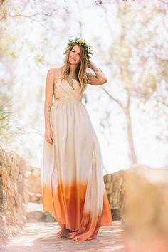 Dip-Dyed Wedding Dress? This BoHo Bride Rocked It #refinery29
