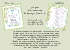 A First Communion Gift