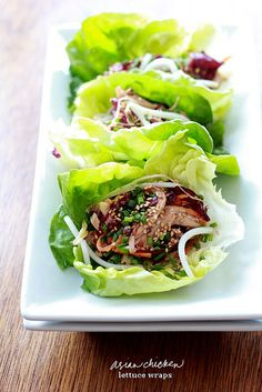 FOOD: ASIAN CHICKEN LETTUCE WRAPS-- they won't weigh you down!