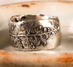 Fern lace ring. $100.00, via Etsy.