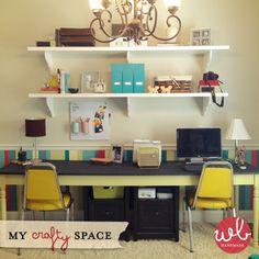 Shelves made from bifold closet doors