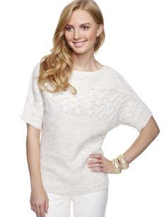 Textured Sweater Tee $69.90