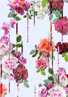 A Summary of one of the biggest floral print trends to grace the catwalk and the high street in recent times. A Blurry floral printed textile project for Fashion.