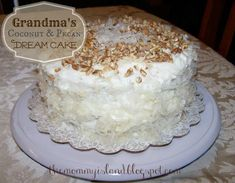 The Mommy Island: Coconut and Pecan Dream Cake Recipe