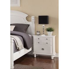 Adorned with classic touches and construction, the Militza bedside dresser will offer a handsome and elegant look to your bedroom. French dovetail construction and spacious storage space creates the perfect addition to your bedset.