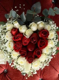 Rose Arrangements, Beautiful Flower Arrangements, Beautiful Roses, Beautiful Flowers, Beautiful Hearts, Hearts And Roses, Outdoor Flowers, Romantic Photos, Girly Pictures