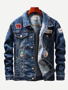 Men Patched & Ripped Detail Wash Denim Jackets – Sunshine's Boutique & Gifts Ripped Denim Jacket Mens, Denim Jackets, Denim Jacket Patches, Black Jackets, Hip Hop Fashion, Fashion News, Mens Fashion, Fashion Styles, Trendy Fashion