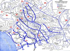 Map Map Of The Allied Breakout From The Anzio Italy Beachhead - Us army ww2 maps