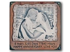 Anniversary Gifts For Husband - RARE Pyrography Handmade Technique - Your Photo Hand Engraved (Etched) by Artists on Real Leather 4th Wedding Anniversary Gifts For Him, Boyfriend Anniversary Gifts, Birthday Gifts For Boyfriend, Boyfriend Gifts, 8th Anniversary, Anniversary Decorations, Wedding Gifts, Personalised Gifts For Husband, Personalized Christmas Gifts
