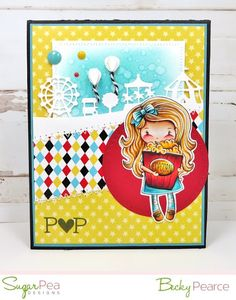 SugarPea Designs New Release - February 2017 We have 12 New Products! ~ Join us for Sweet Peeks All Week! Today we're introducing . Carnival Card, Simon Says, Clear Stamps, Altered Art, Stencils, Card Making, Kids Rugs, Projects, Sugar