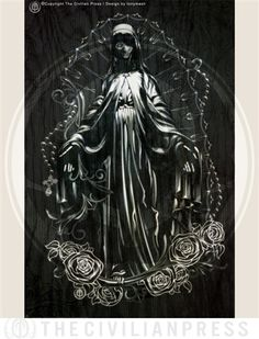 12x18 Virgin Mary Art Print for the Civilian Press design by tonymash