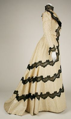 """edwardian-time-machine: """" Afternoon dress Date: 1897–98 Source """""""