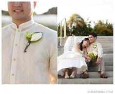 barong. Filipino tradition. Wedding Wishlist, Wedding List, Wedding Gowns, Dream Wedding, Wedding White, Wedding Outfits, Groom Attire, Dress Attire, Filipino Wedding