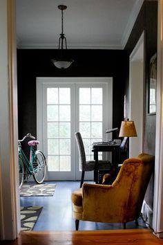 Dark blue foyer