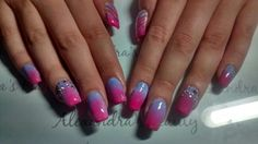 Acrylic nails - ombre - swarovski