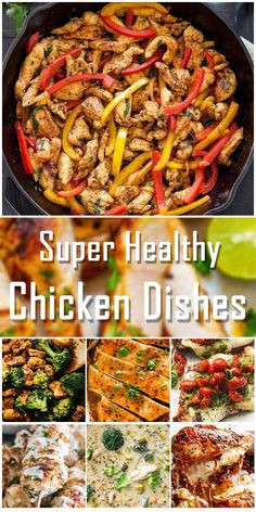Super Healthy Chicken Dishes – Yummy – Best Ideas for Dinner Healthy Dishes, Healthy Cooking, Food Dishes, Healthy Eating, Cooking Recipes, Healthy Recipes, Healthy Chicken Alfredo, Daily Meals, Quick Meals