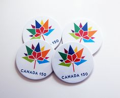 Canada 150 Coasters, Drink Coasters, Canada Souvenir, Housewarming Gift, Canada 150 logo, Canada Day, Canada 150 birthday, rainbow (7478) by KellysMagnets on Etsy Canada 150 Logo, Canada Day, Drink Coasters, House Warming, Pride, Rainbow, Birthday, Fun, Gifts
