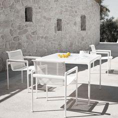 Chaise contemporaine / en résille / en fonte d'aluminium / de jardin 1966 by Richard Schultz Knoll international