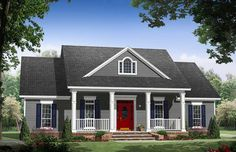Cozy 3 Bed House Plan - 51167MM | Country, Farmhouse, Traditional, Photo Gallery, 1st Floor Master Suite, CAD Available, PDF, Split Bedrooms, Corner Lot | Architectural Designs