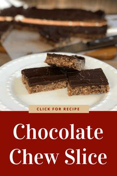 Delicious Chocolate Chew Slice using pantry basics, a tasty recipe with rice bubbles, coconut and cocoa. A classic recipe, it really is the best. Chocolate Coconut Slice, Delicious Chocolate, Chocolate Recipes, Yummy Treats, Sweet Treats, Yummy Food, Rice Bubble Recipes, Baking Recipes, Cookie Recipes