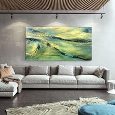 Modern Abstract Painting Dorm Room Decor Oil Painting On image 9 Large Canvas Wall Art, Extra Large Wall Art, Abstract Canvas Art, Art Decor, Room Decor, Oversized Wall Art, Large Painting, Dorm Room, Office Decor