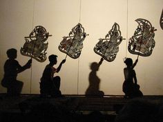 Sovanna Phum traditional Cambodian shadow puppet theatre. Sovanna Phum uses the traditional art form to communicate stories about aids and safe sex practices in regional areas.